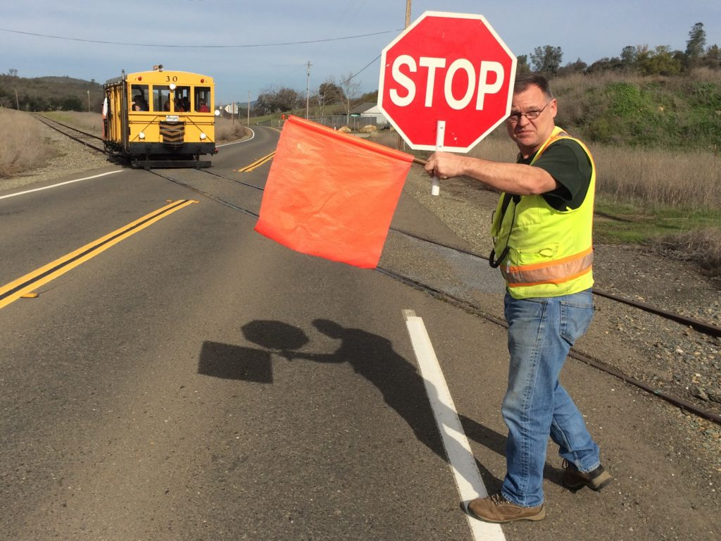 Flagman Jim protects the Skagit at Latrobe